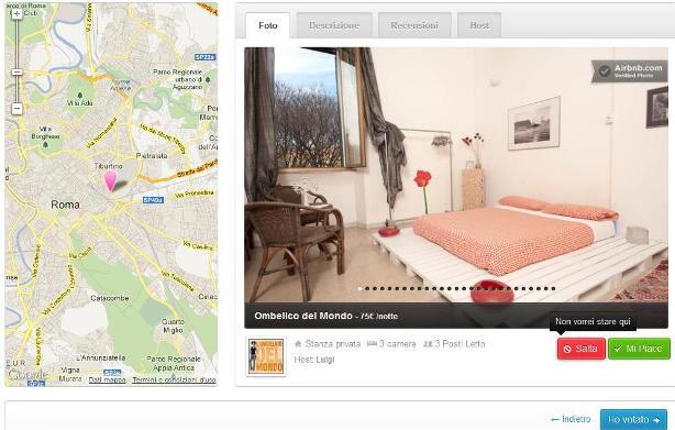 Valutare una stanza su Match di Airbnb