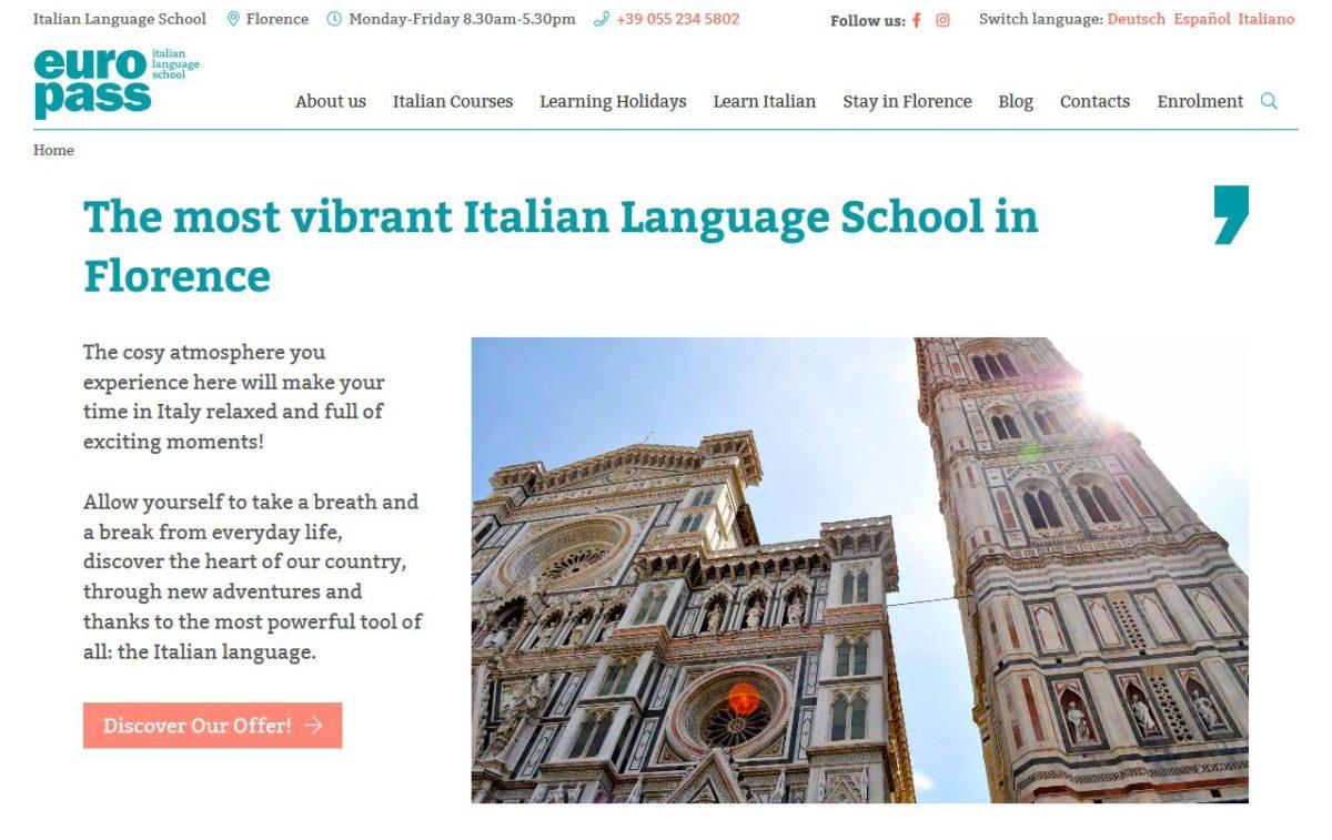 Home page del sito di Europass