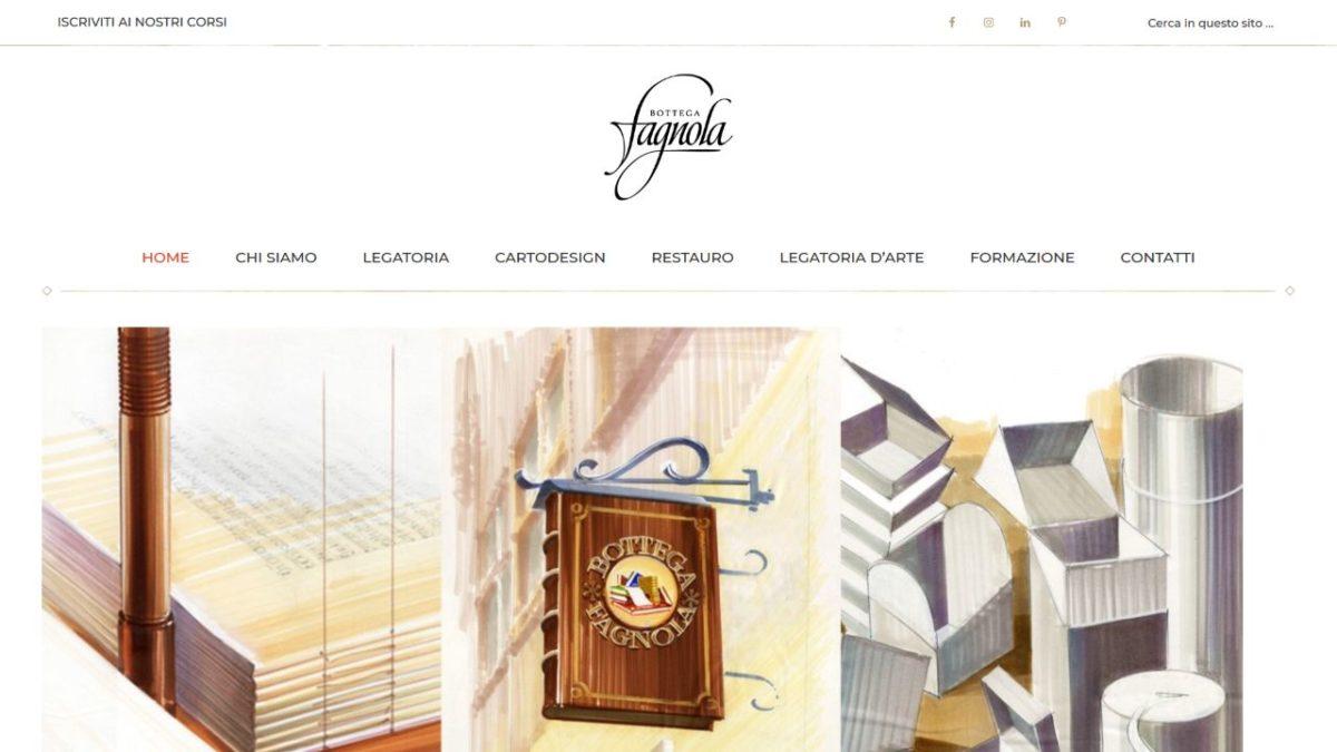 Home page del sito Bottega Fagnola
