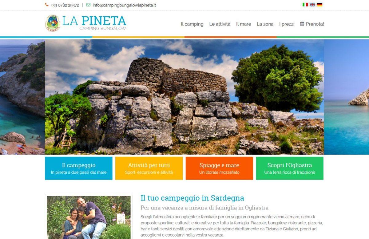 Home page del camping bungalow La Pineta