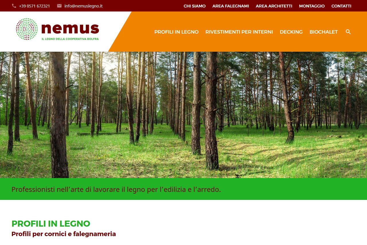 Home page Nemus Legno