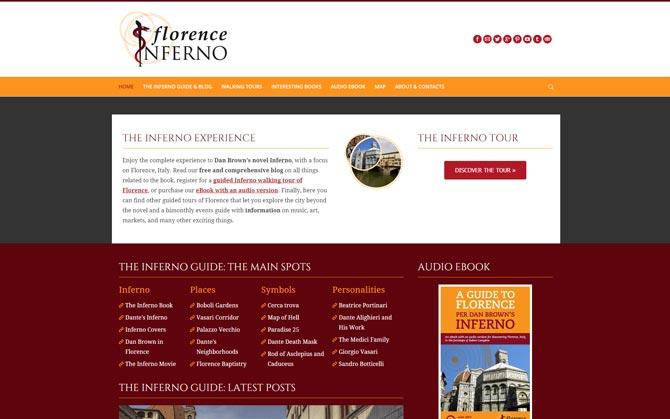 La pagina iniziale di Florence Inferno